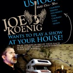 South-West US Tour - Joe Wants to Play at your HOUSE!